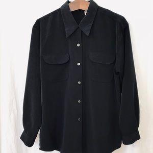 Classic black vintage blouse